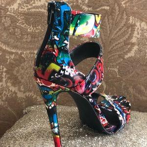 83c59893ffa Steve Madden Shoes - Graffiti Stiletto Sandals by Steve Madden!